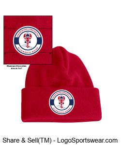 Red Winter Cap Design Zoom