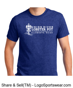 Blue Lobster Pot T Design Zoom