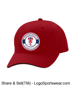 Red Baseball Hat Design Zoom